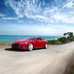 Earth Day Displays New Tesla Model S